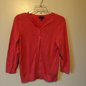 The Limited coral cardigan sweater